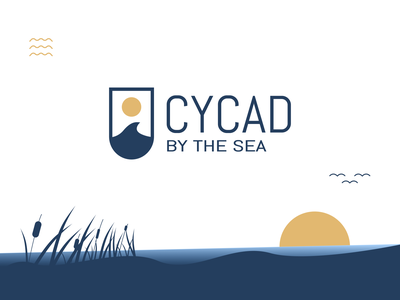 Cycad by the Sea Logo Design typography illustration vector logo design branddesign branding brand logomarks marks logomark logodesign logos logo