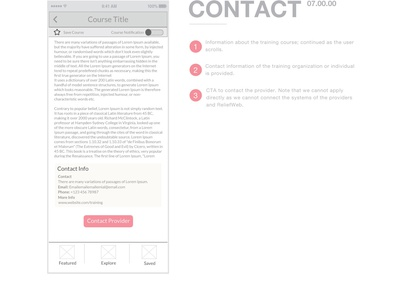 United Nations Training App - Contact love illustrator sketch work design ui ux wireframes wireframe