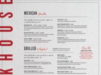Maxeys Steakhouse Menu