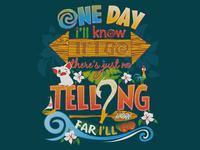 How Far I'll Go: A Moana Typography Design