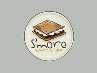 Logo for S'more bakery and cafe