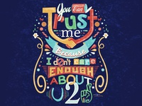 You Can Trust Me Typographic Quote