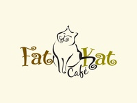 Fat Kat cafe' Logo Design