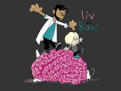 liv and Ravi: A Calvin and Hobbes i-Zombie parody