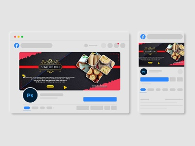 Social Media Food Facebook Cover Design food brand web banner visuals banner ad design facebook cover design social media post banner design visual identity app branding graphics banner ad graphic design branding design typography social media design social media banner ui art