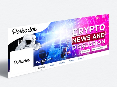 Polkadot Crypto Facebook Banner social media post social media design social media banner web web banner branding design facebook ad branding concept banner ads app ui typography graphics brand art design branding facebook banner banner design banner ad