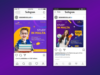 EDUCATIONAL SOCIAL MEDIA POST adobe xd ad design social media design instagram banner instagram template instagram post facebook ad facebook cover social media banner social media post web app icon ui illustration typography graphic design art design branding