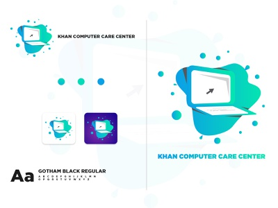 Computer Servicing IT Branding Logo clean icon branding brand identity gradient abstract design monogram creative brand logodesign logotype logo modern illustration app app icon corporate
