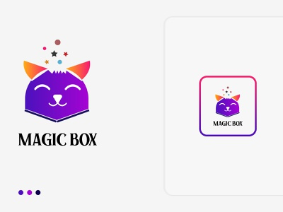 Magic Box Logo Exploration! V.2 design simple mark online services logo design minimal box concept vector icon branding illustration brand logo logotype brand identity star modern abstract app