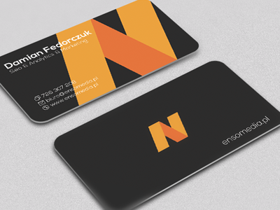 Business card - ensomedia business card print branding presentation stationery brand identity corporate graphic design
