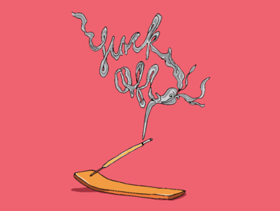 Fuck Off incense design art artwork drawing ink woman illustration nsfw toronto illustration female artist drawing