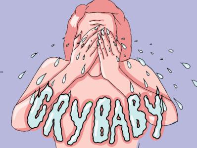 CRYBABY sadness creative sad crybaby drawing ink artwork toronto flat illustration drawing woman illustration illustration female artist