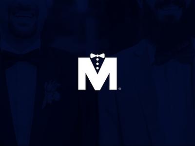 M + Suit Logo vector formal logotipo brand brand identity monogram logo design mark logo icon branding