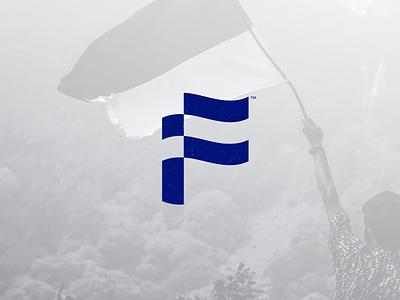 F +  Flag Logo flag logo flag monogram brand identity logotipo brand branding logo design mark logo icon
