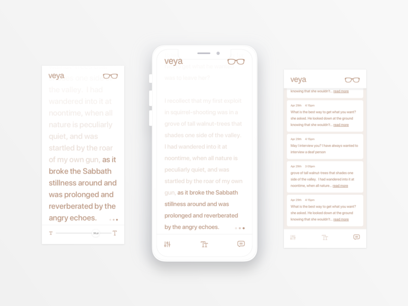 Speech to Text dailyui simple minimal design see sign sign language interface uiux ui white type accesibility deaf texture speech