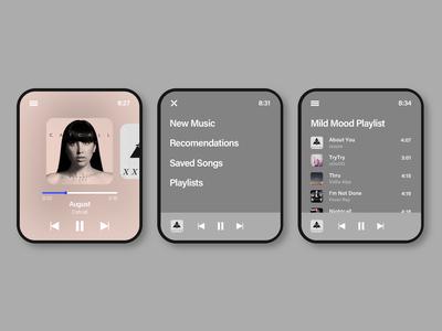 Apple watch music UI