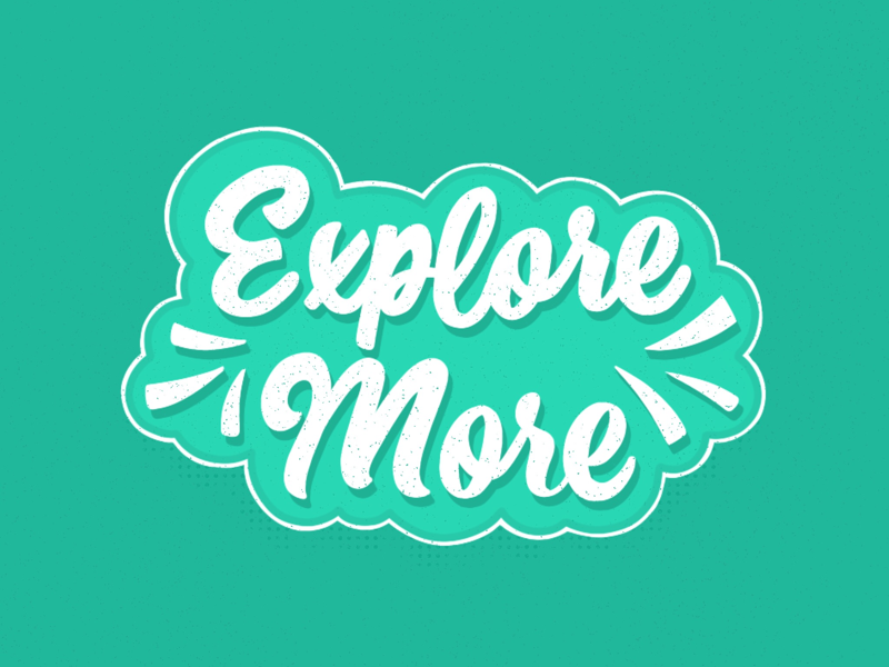 Explore More, Try More custom type typography graphic design texture lettering texture design cuts quiver supply co hand lettering