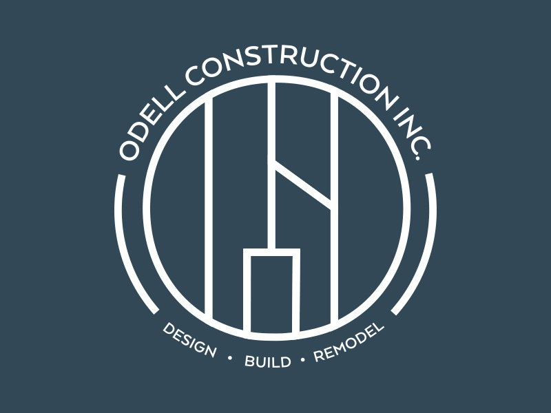 Secondary Odell Construction Inc. Logo home construction branding logo