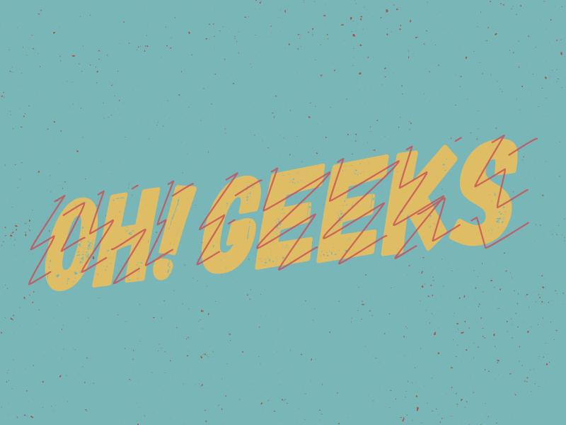 OH! GEEKS comic branding logo nerd geeks