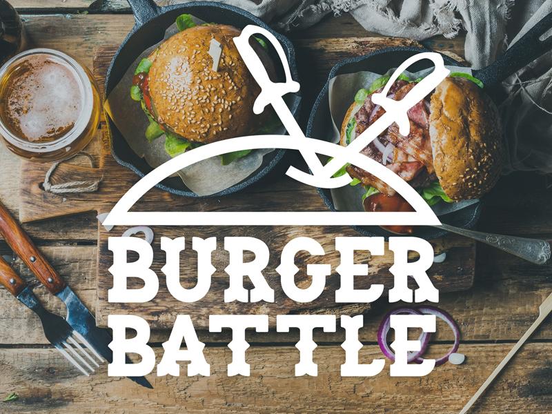 Lorain County Burger Battle promotional branding local government design food restaurant burger logo