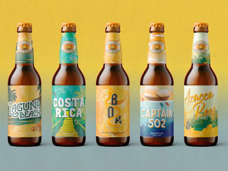 Tropical Beer Art reef water boa jungle beach tropical art brewery beer art brewery beer art beer