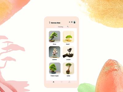 Trending beautiful all mobile web trending bonsai plants daily ui unique inspiration creative popular modern dailyui dribbble design challenge 069
