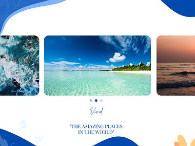 Image Slider 072 amazing sea blue slider image daily ui mobile web all inspiration creative popular modern dailyui dribbble design