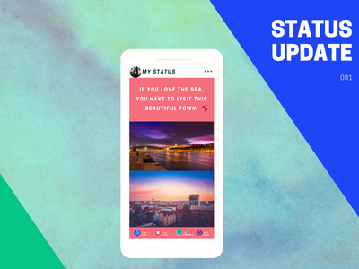 Status update daily ui 081 update status creative popular modern design