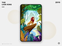 May you be strong forest lion ui design photoshop illustration