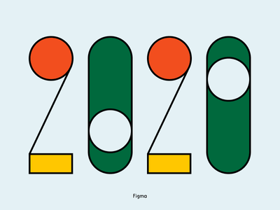 2020 Figma typography illustration branding design