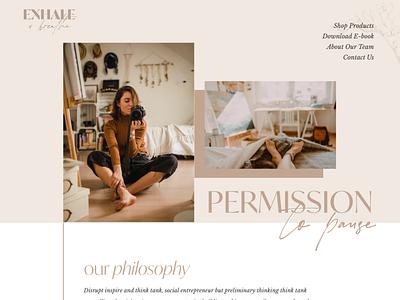 Exhale.& Breathe web designer web branding ux website template web design