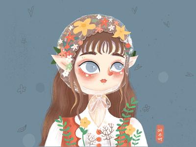 Flowers and Teenagers flowers 插图 dribbble