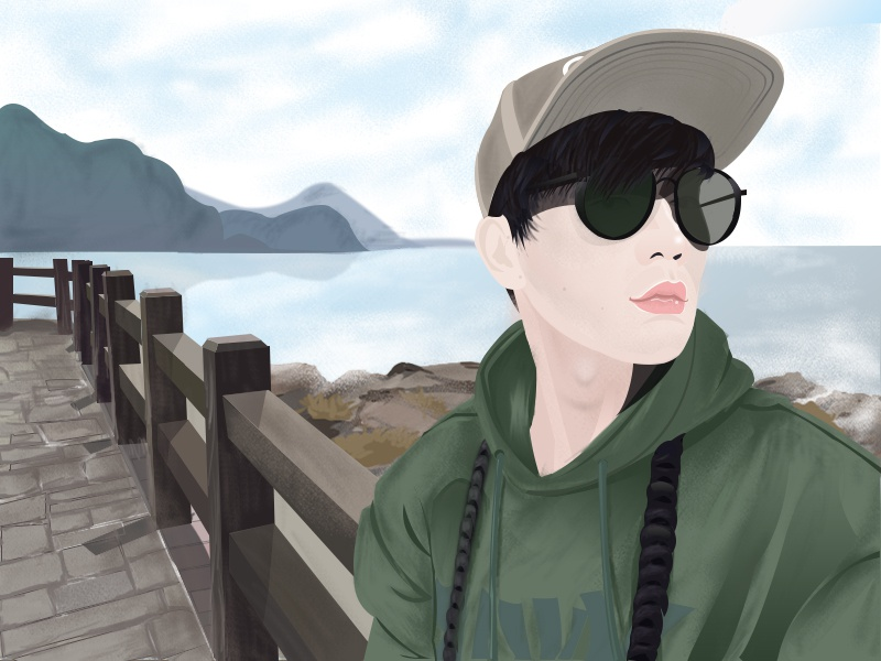 My favorite singer illustration favourite my jj-lin singer