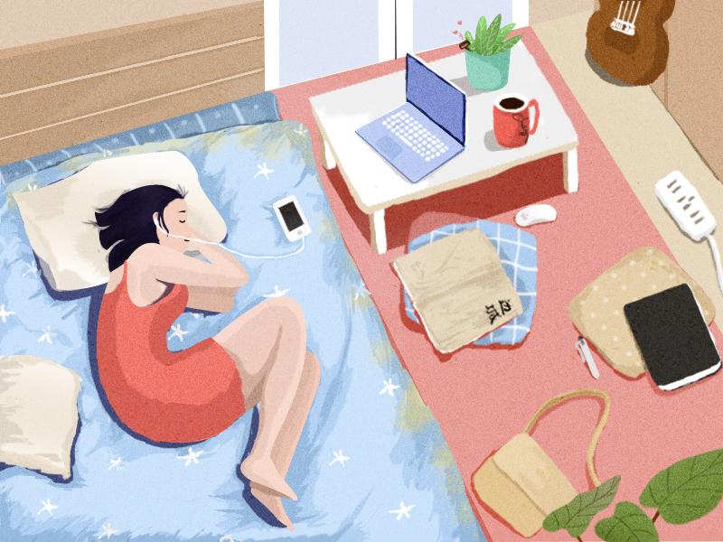 My Room life my room illustration.my