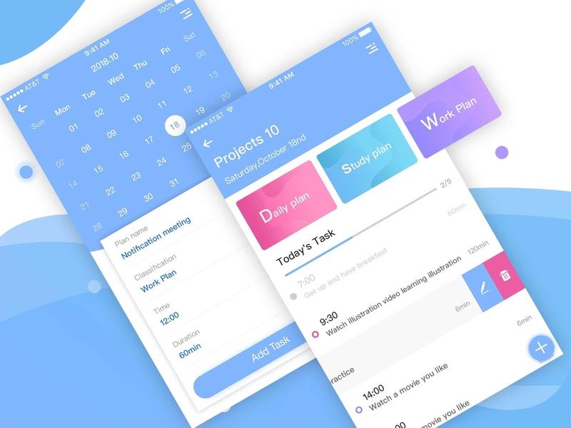 Plan page design design app ui