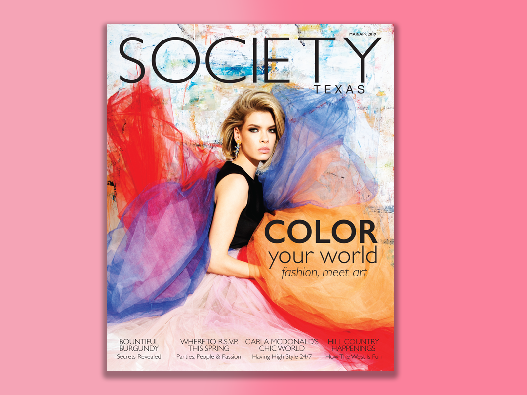 Society Texas March/April 2019 Cover production design cover art editorial design