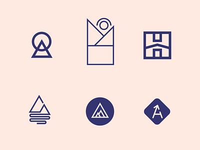 Logo Ideas ideas home relocating moving upward mountain triangle shapes branding vector design logo