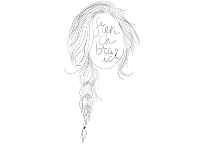 Hair mysteries daily sketch daily drawing sketches handwriting hair french braid french braid daily illustration