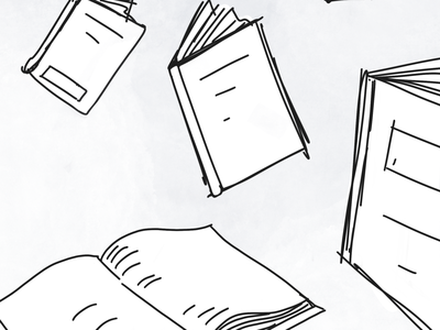 How to read one book at a time daily draw daily drawing daily illustration