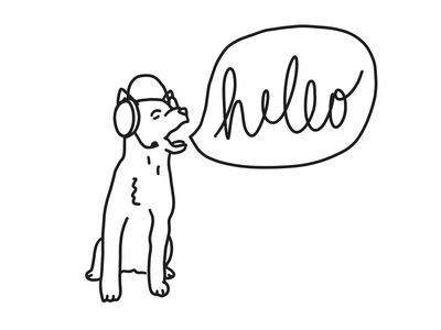 How to teach a dog to speak speak hello dog daily drawing illustration daily