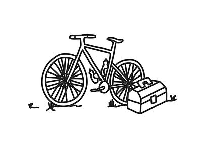 Mystery bike skills bikes bike tools daily illustration