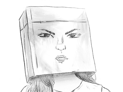 My face says it all random portrait bag daily dailydrawing illustration