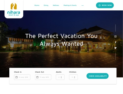 Resort website UI redesign