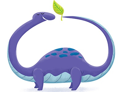 Brontosaurus with Leaf brontosaurus