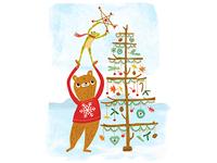 Bear And Frog Christmas Tree