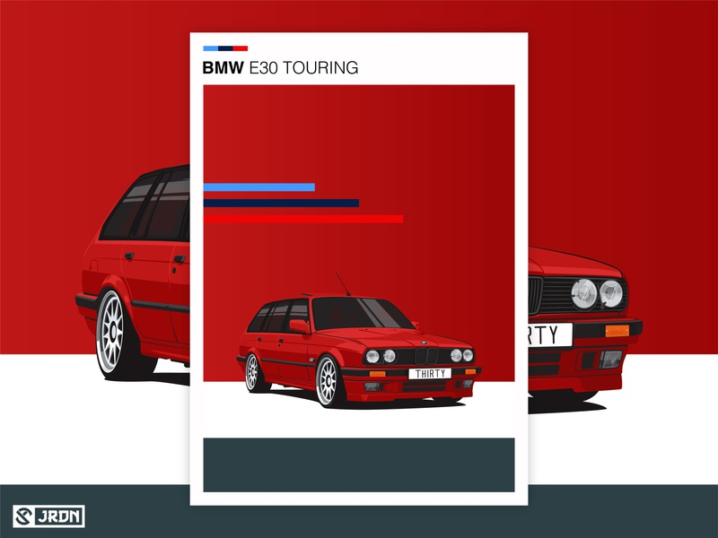 BMW E30 Touring e30touring bmwart vector carillustration vectorart minimalist illustration digitalart carart