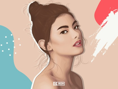Kate Valdez Fan Art digital illustration vector illustration illustration portrait minimalist digital art vexelart vector portrait portrait illustration vectorart
