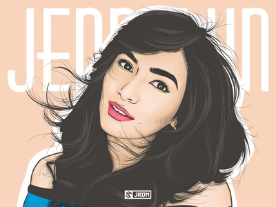 Jennylyn Mercado Vector Portrait vexelart portrait illustration portrait minimalist vector art vector digital art illustration