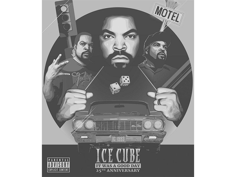 Talent house design entry for Ice Cube: It Was a Good Day digital art coverdesign illustration icecube