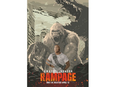 Rampage: Alternative Movie Poster vector illustration movie poster digital art rampage